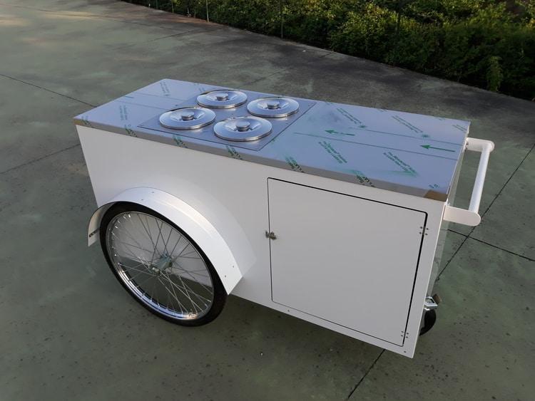 carrello spinta gelati granite street food