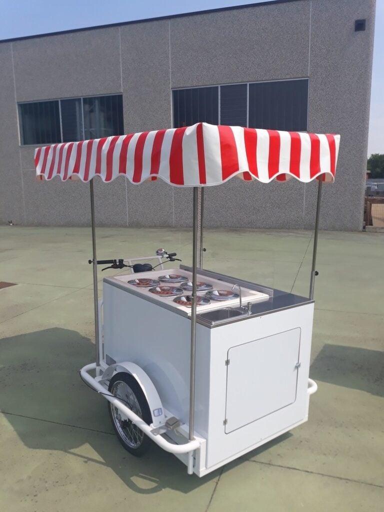 cargo bike gelati granite street food