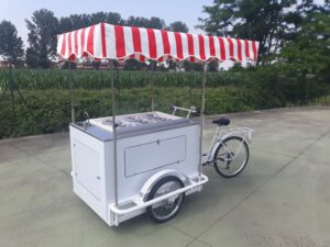 cargo bike gelati granite street food