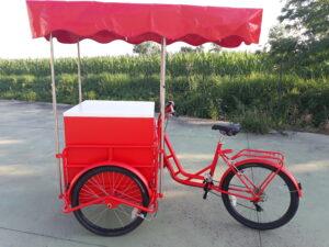 cargo bike rossa pubblicità promozionale