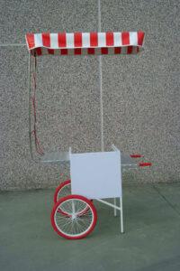 carretto spinta bianco mini work cargo bike street food