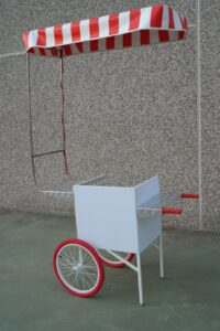 carretto spinta bianco mini work cargo bike street food