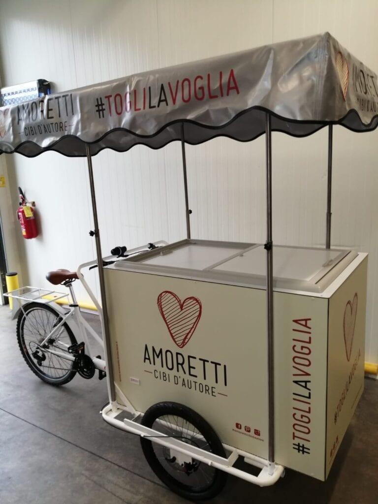 triciclo cargo bike nordik gelato panini street food